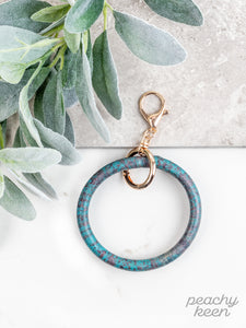 Turquoise Twister Key Ring Bangle