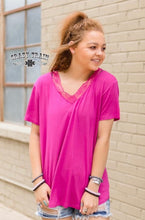 Load image into Gallery viewer, Magenta Very Fave V-Neck Top
