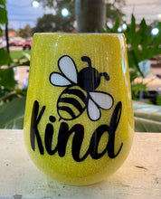 Load image into Gallery viewer, Be Kind Locally Made Glitter Cups