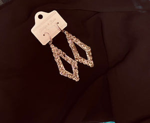 Diamond Shaped Glitter Earrings
