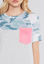 Load image into Gallery viewer, Starred In Camo Pocket Tee