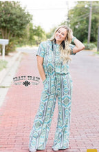 Load image into Gallery viewer, ROXY ROMPER * JUMPSUIT * OLIVE AZTEC