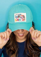 Load image into Gallery viewer, Feelin' Ranchy Patch On Distressed Turquoise Hat