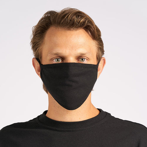 Unisex Black Enhanced Flat Face Mask