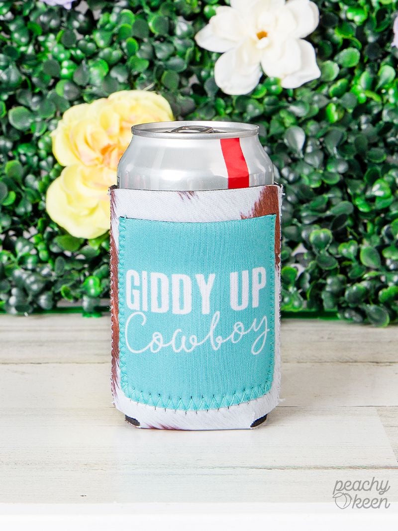 Peachy Keen Giddy Up Cowboy Can Coolers