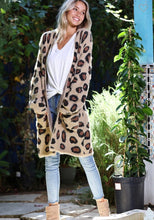Load image into Gallery viewer, Leopard Patterned Open Front Cardigan