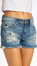 Load image into Gallery viewer, Bianca Distressed Boyfriend Fit Denim Shorts