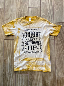 Tonight's It's Bottoms Up Bleached Graphic Tee