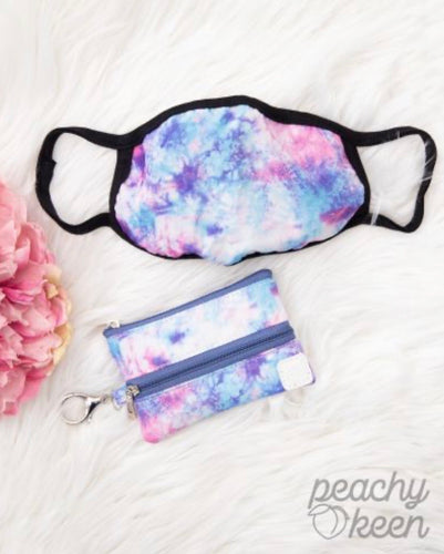 Sweetheart Wishes Tie-Dye Double Zipper Mini Versi Bag with Face Mask