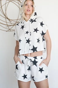 Cute Star Print Activewear Set