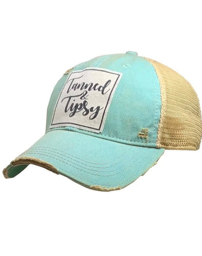 Vintage Distressed Tanned & Tipsy Trucker Hat