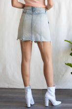 Load image into Gallery viewer, Sneak Peek High Waist Frayed Hem Denim Skirt