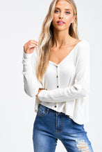Load image into Gallery viewer, Ivory Thermal Long Sleeve Top