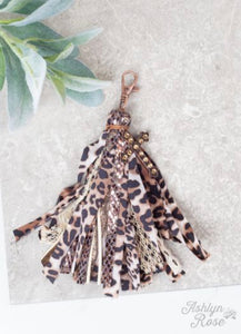 Tassel An Cross Large Bling Charm Key Chain