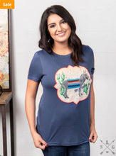 Load image into Gallery viewer, Can't Be Tamed Burro Patch On Royal Blue Short Sleeve