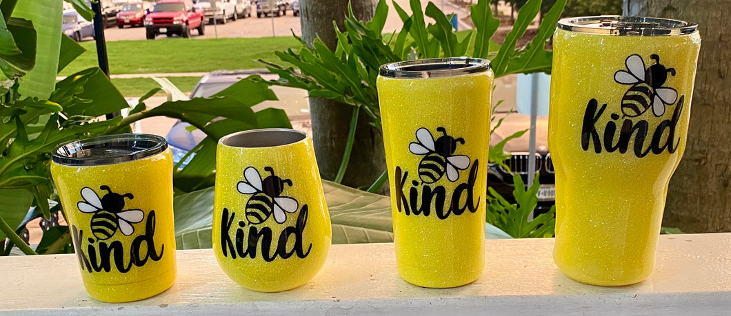 Be Kind Locally Made Glitter Cups