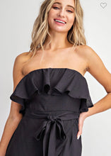 Load image into Gallery viewer, Black Strapless Midi Dress