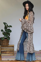 Load image into Gallery viewer, Cheetah Ruffle Sleeve Kimono