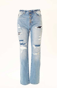Phoebe's High Rise 90's Boyfriend Distressed Jean