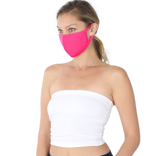 Washable Cotton Mask In 3 Different Solid Colors