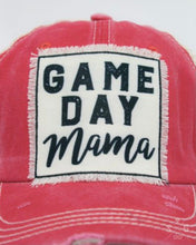 Load image into Gallery viewer, Game Day Mama Patch on Coral Distressed Hat with Tan Mesh