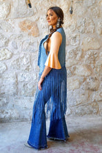 Load image into Gallery viewer, Denim Vest With Studs And Fringe