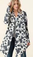 Load image into Gallery viewer, Cow Print Cardigan