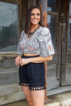 Load image into Gallery viewer, Ivory Aztec Cropped Top