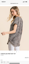 Load image into Gallery viewer, CAMOUFLAGE PRINT KNIT TOP