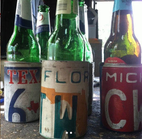 Recycled License Bottle Coozie