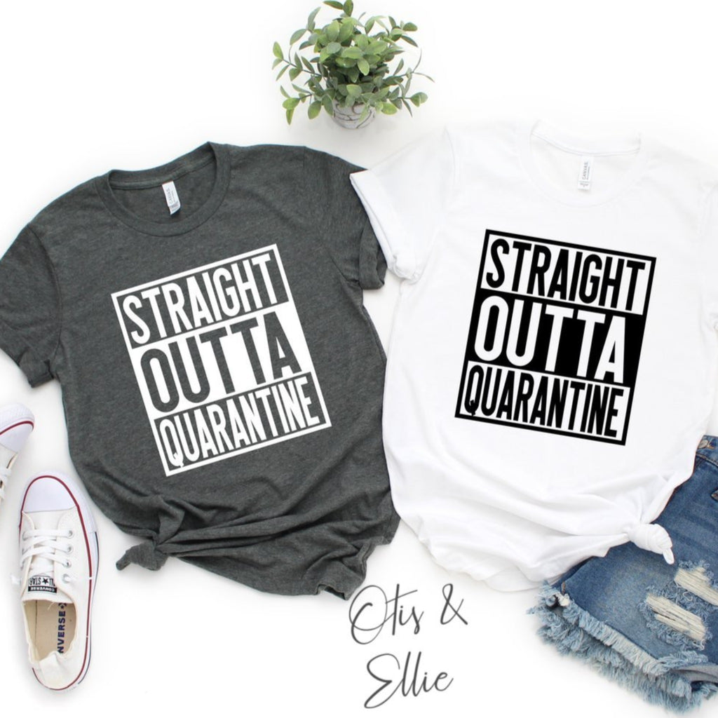 Straight Outta Quarantine Graphic Tee - Black Ink