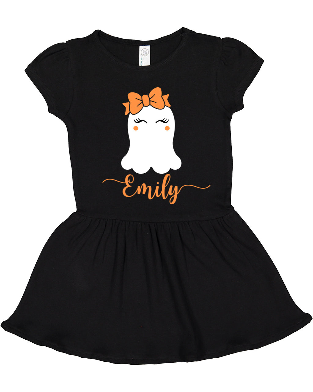 Girls Personalized Glow-In-The-Dark Cute Ghost Dress