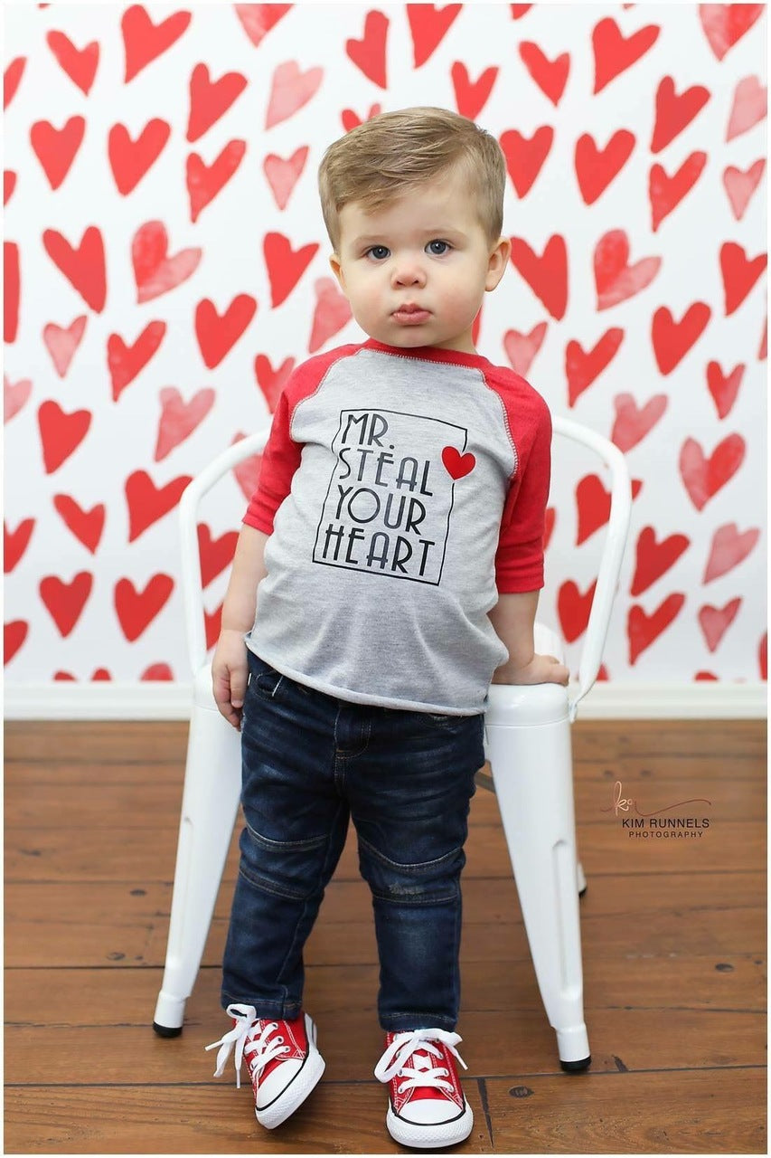 Mr. Steal Your Heart Valentine's Day Graphic Raglan