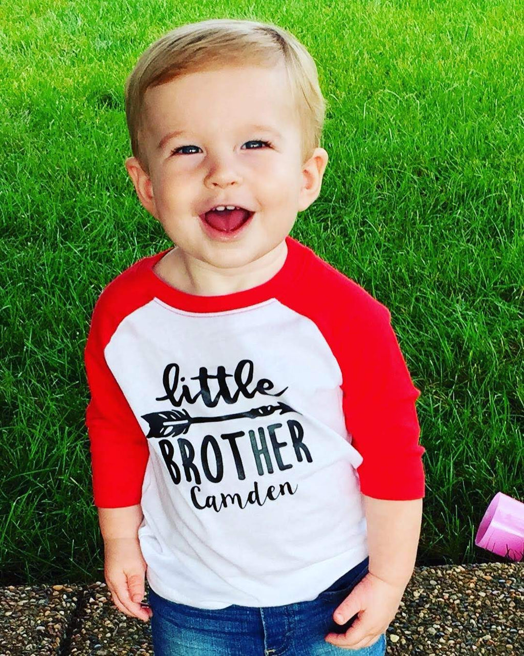 Personalized Little Brother Raglan