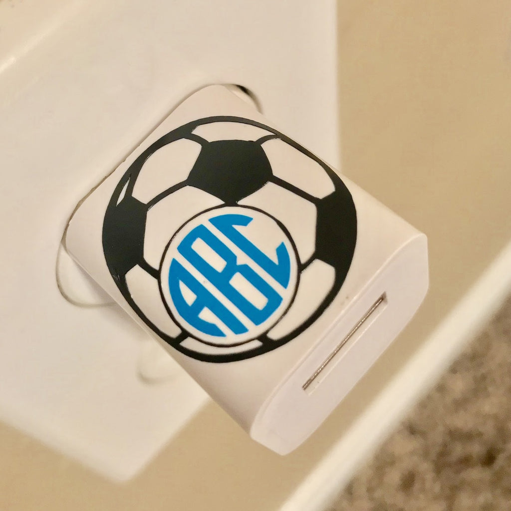 Soccer Monogram USB Wall Phone Charger