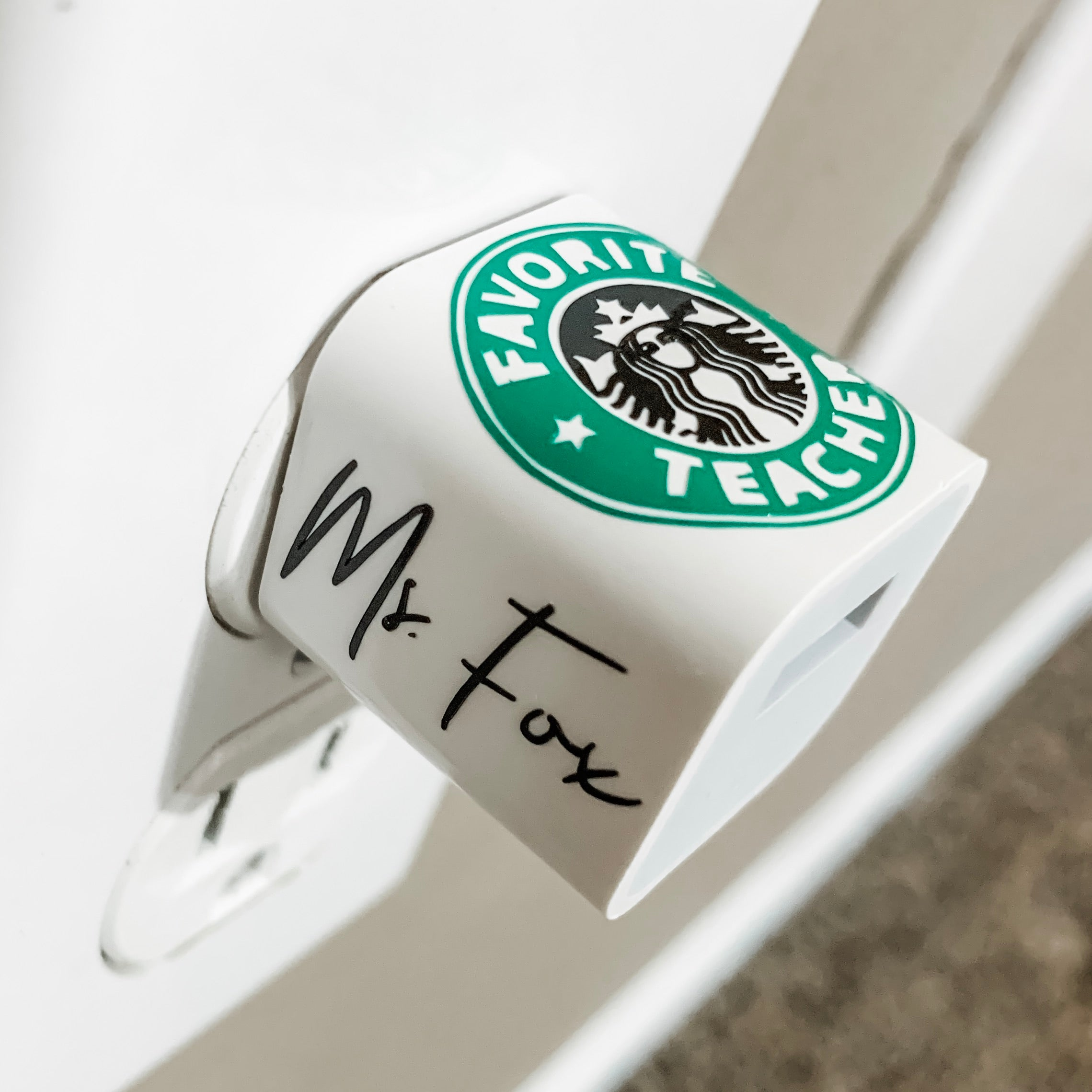 "Favorite Teacher ""Starbucks"" Personalized USB Wall Charger"