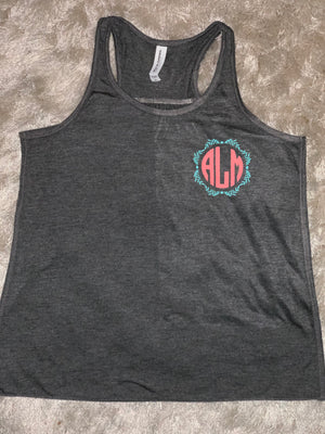 Girls Monogram Racerback Tank