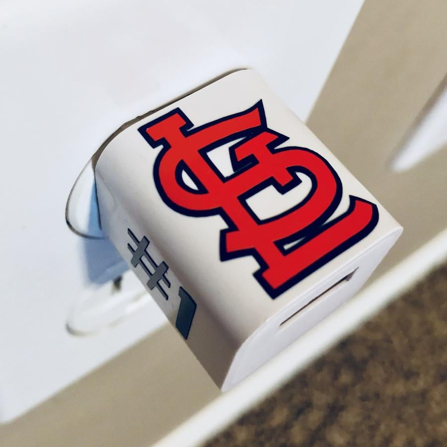 STL Cardinals Personalized USB Wall Phone Charger