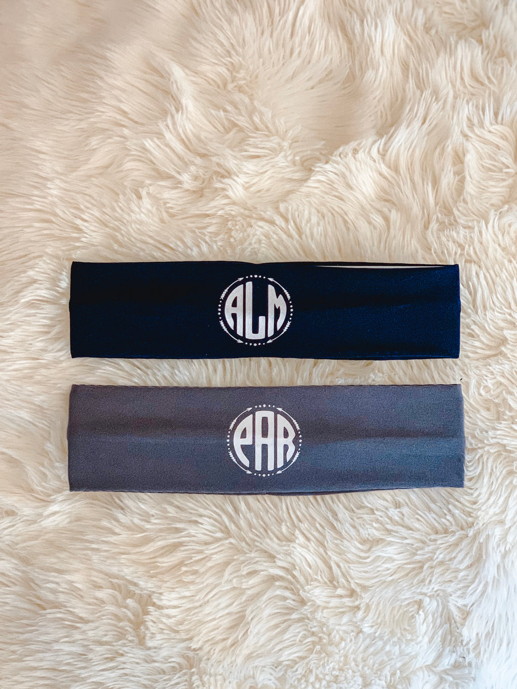 Monogram Stretch Headband
