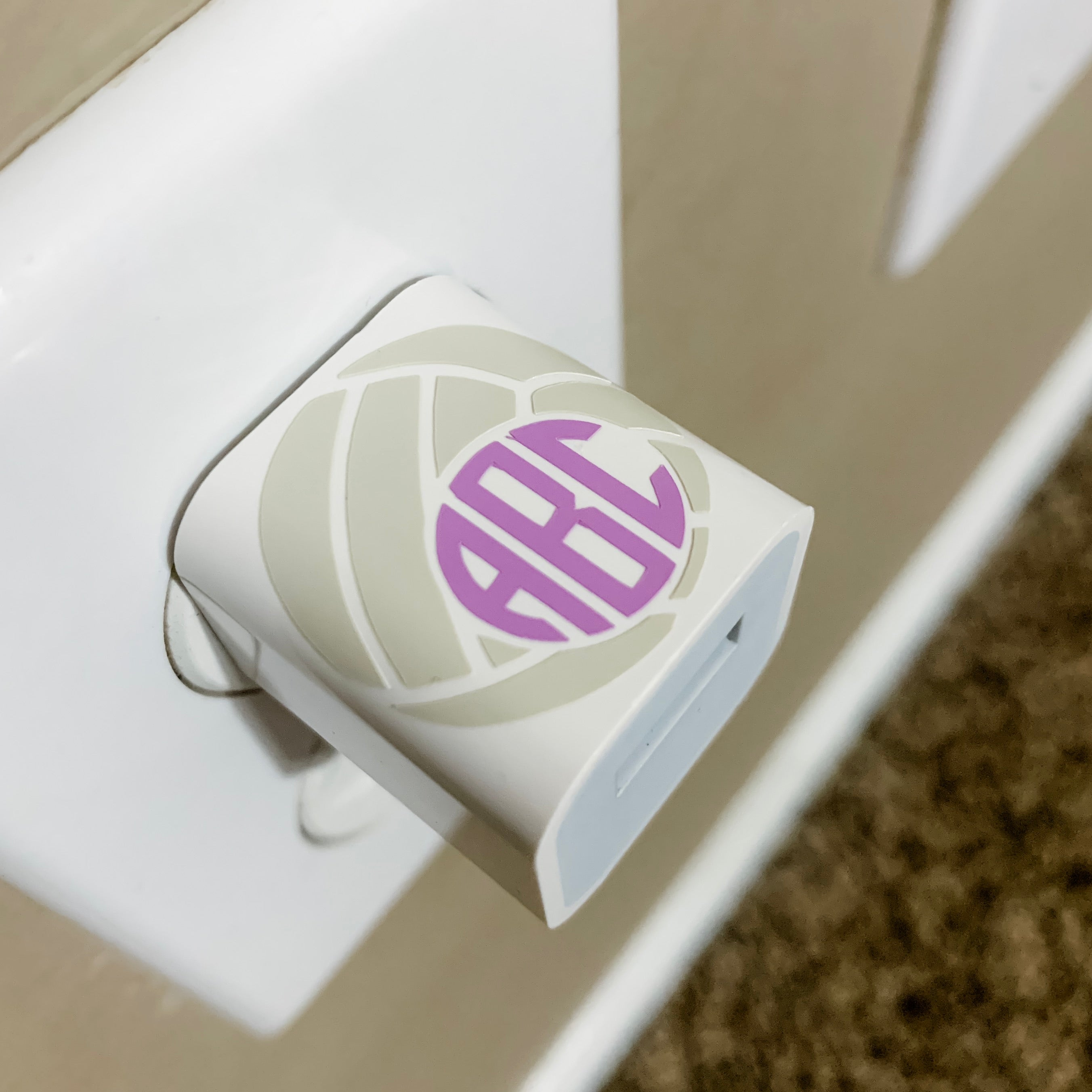 Volleyball Personalized Monogram USB Wall Phone Charger