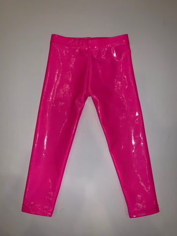 Neon Pink Lame Legging