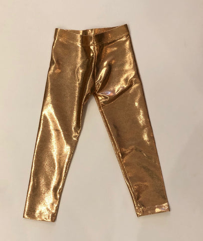 Rose Gold Baby Lame Legging