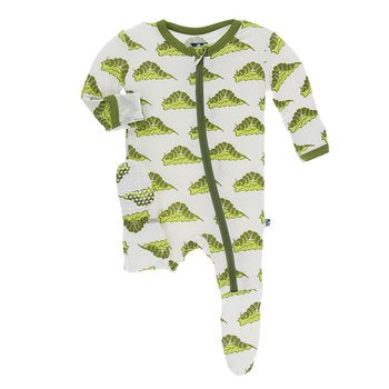 KP Natural Caterpillars Zipper Footie