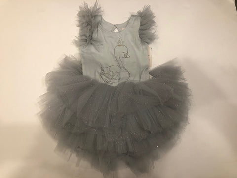 Luna Luna Majesty Swan Malibu Onesie Dress