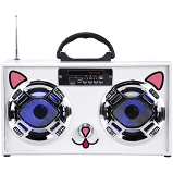 Kuwaii Cat Boom Box W LED Speakers