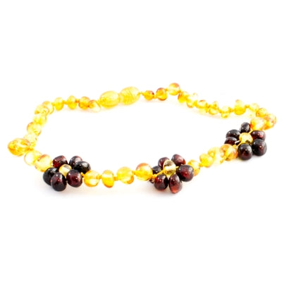 Amber Floral Baltic Amber Necklace