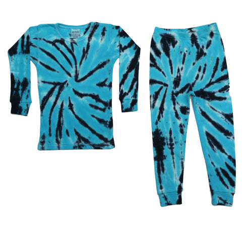 Baby Steps 2PC Joshy Teal Tie Dye PJ