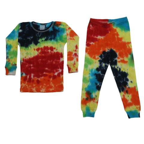 Baby Steps 2PC Primary Rainbow Tie Dye PJ