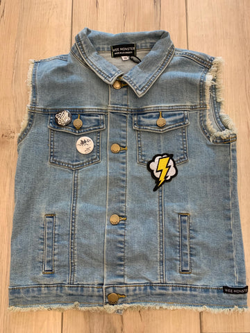 Wee Monster Music Vibes Denim Vest