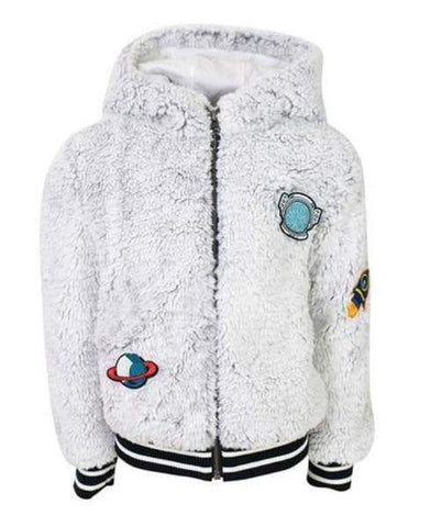 Lola & The Boys Spaceman Gray Plush Hoodie Boys
